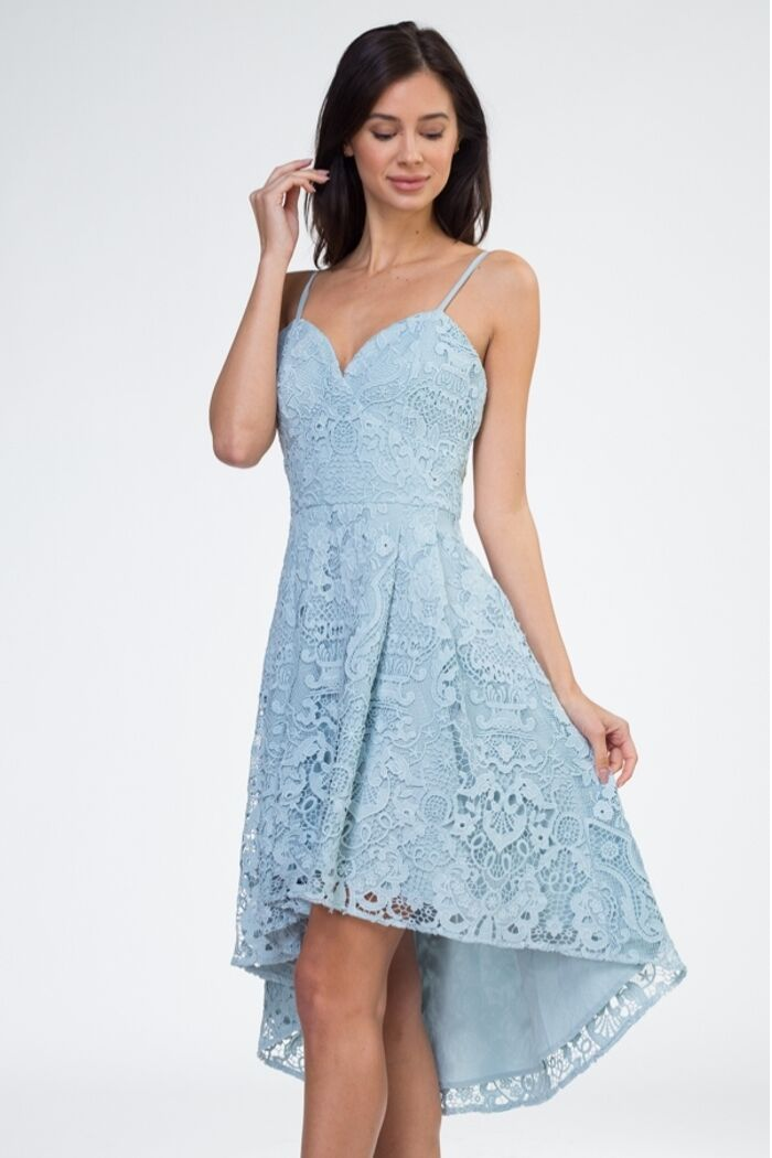 Lace Hi-Low Dress