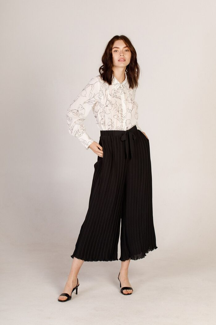 Pleated Culotte Pant