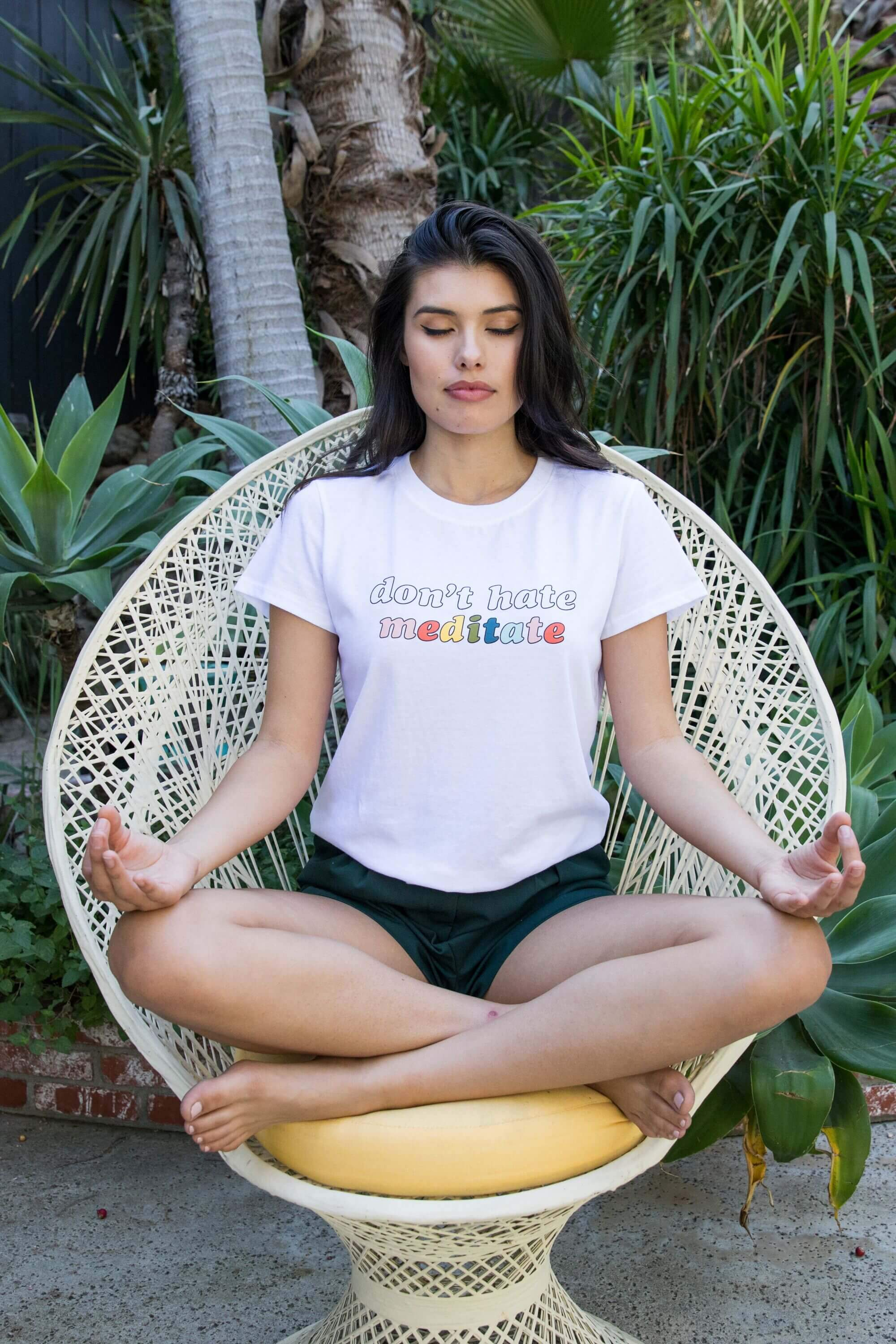 Don't Hate Meditate Loose Tee