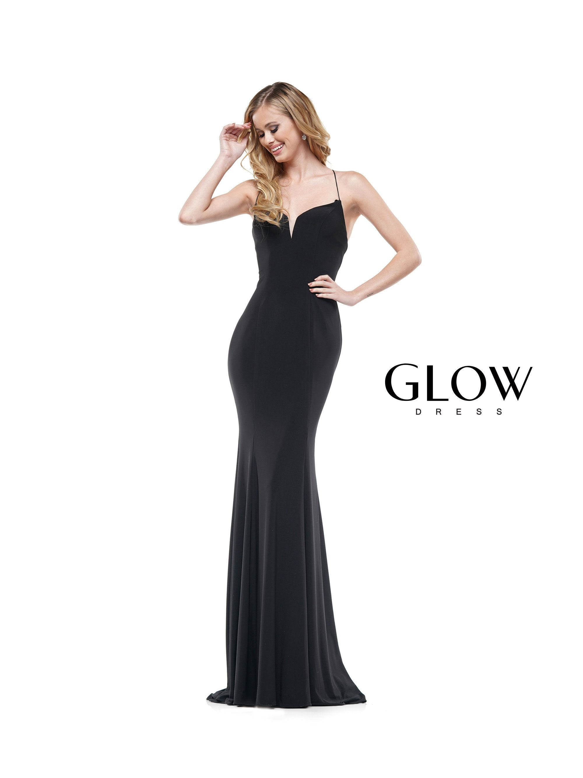 Lace Up Jersey Gown