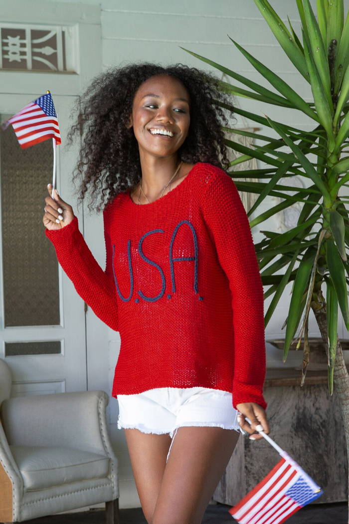 USA Bateau Cotton Sweater
