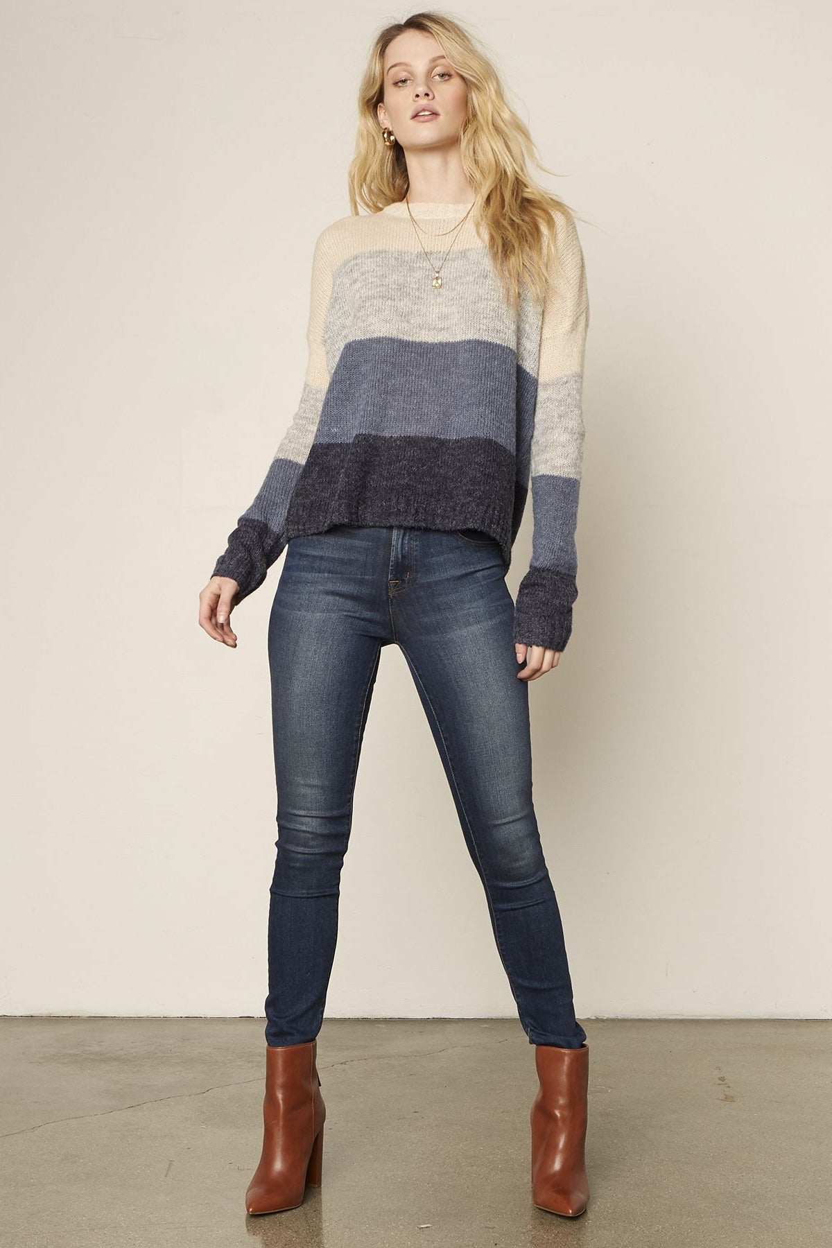 Ombre Block Sweater