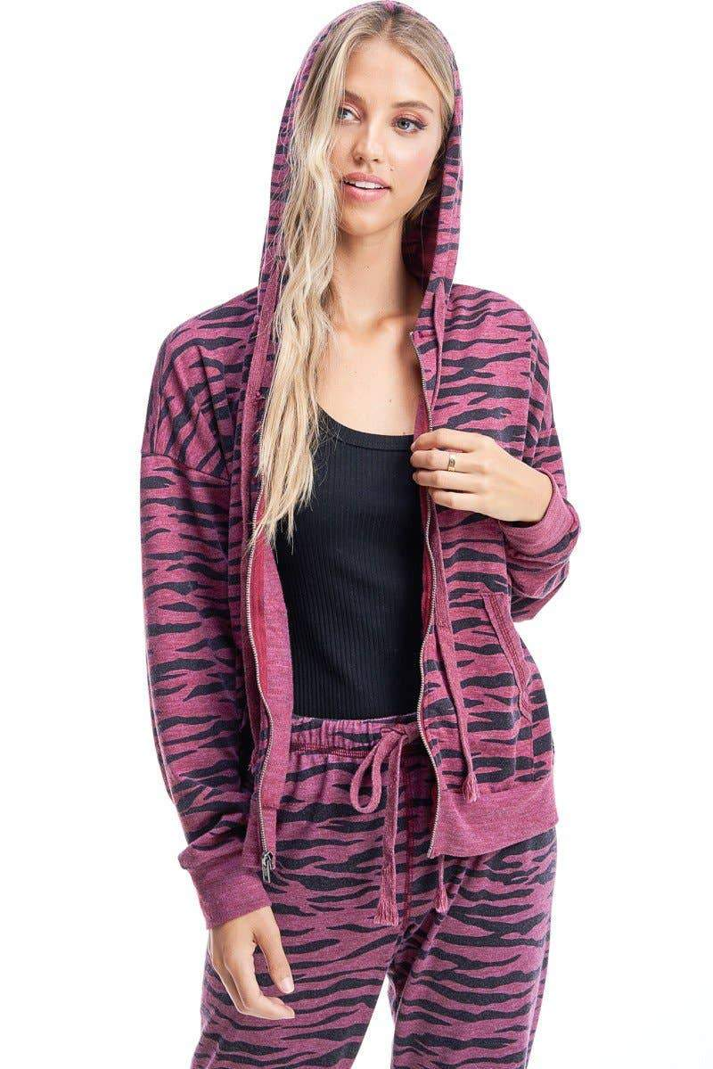 Zebra Zip Up
