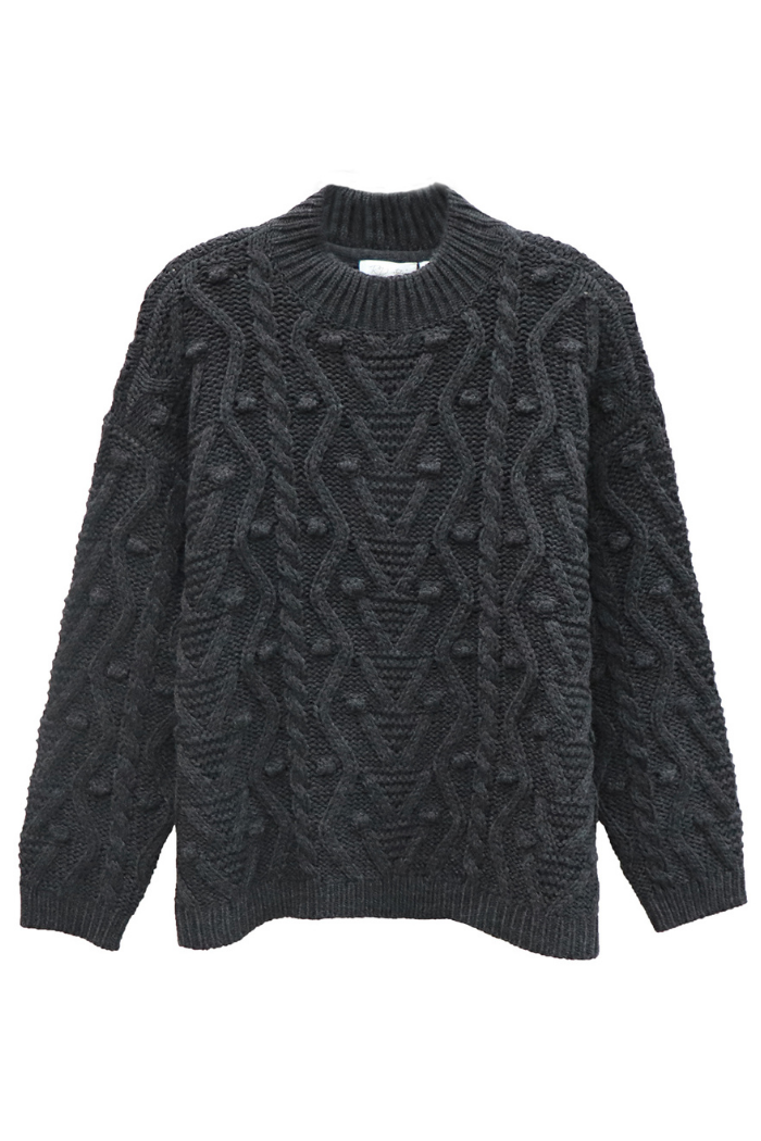 Pom Mock Neck Sweater