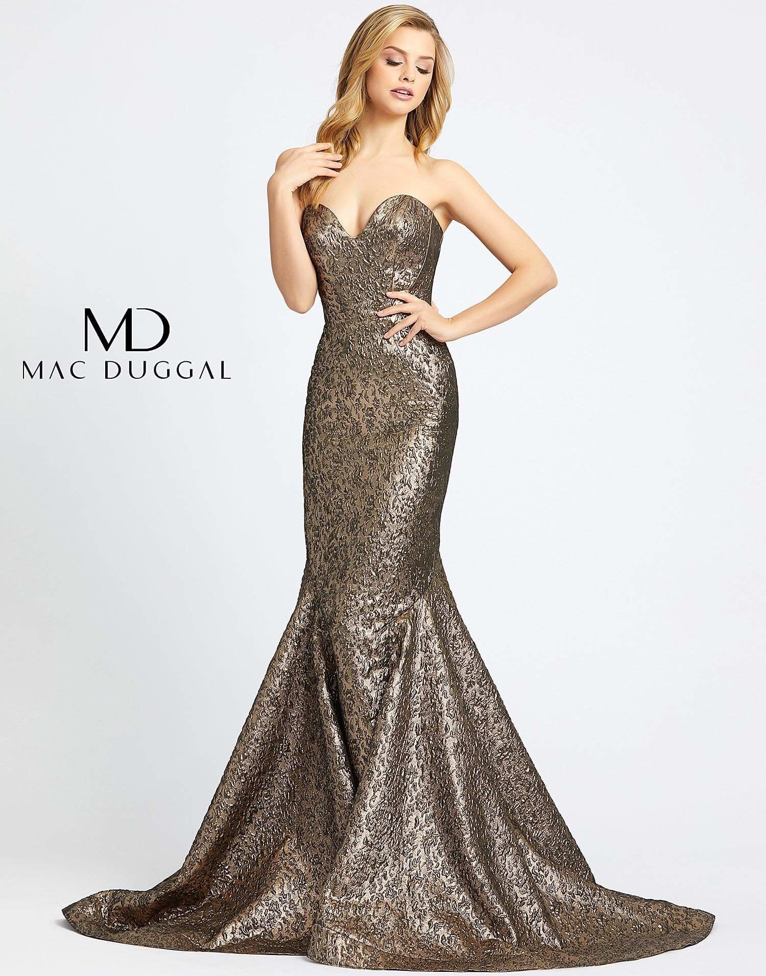 Metallic Sweetheart Gown