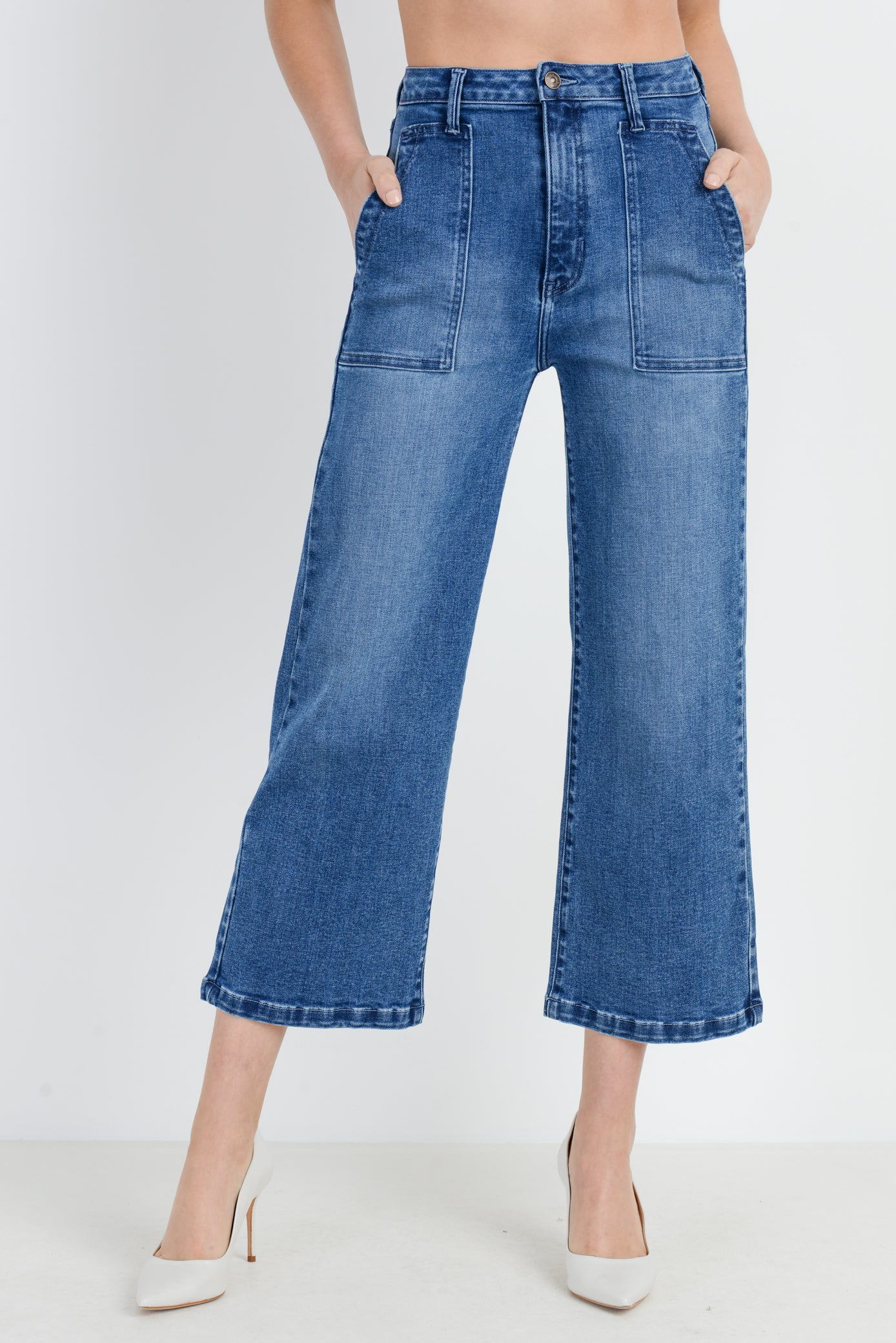 The Patch Wide Leg Jeans