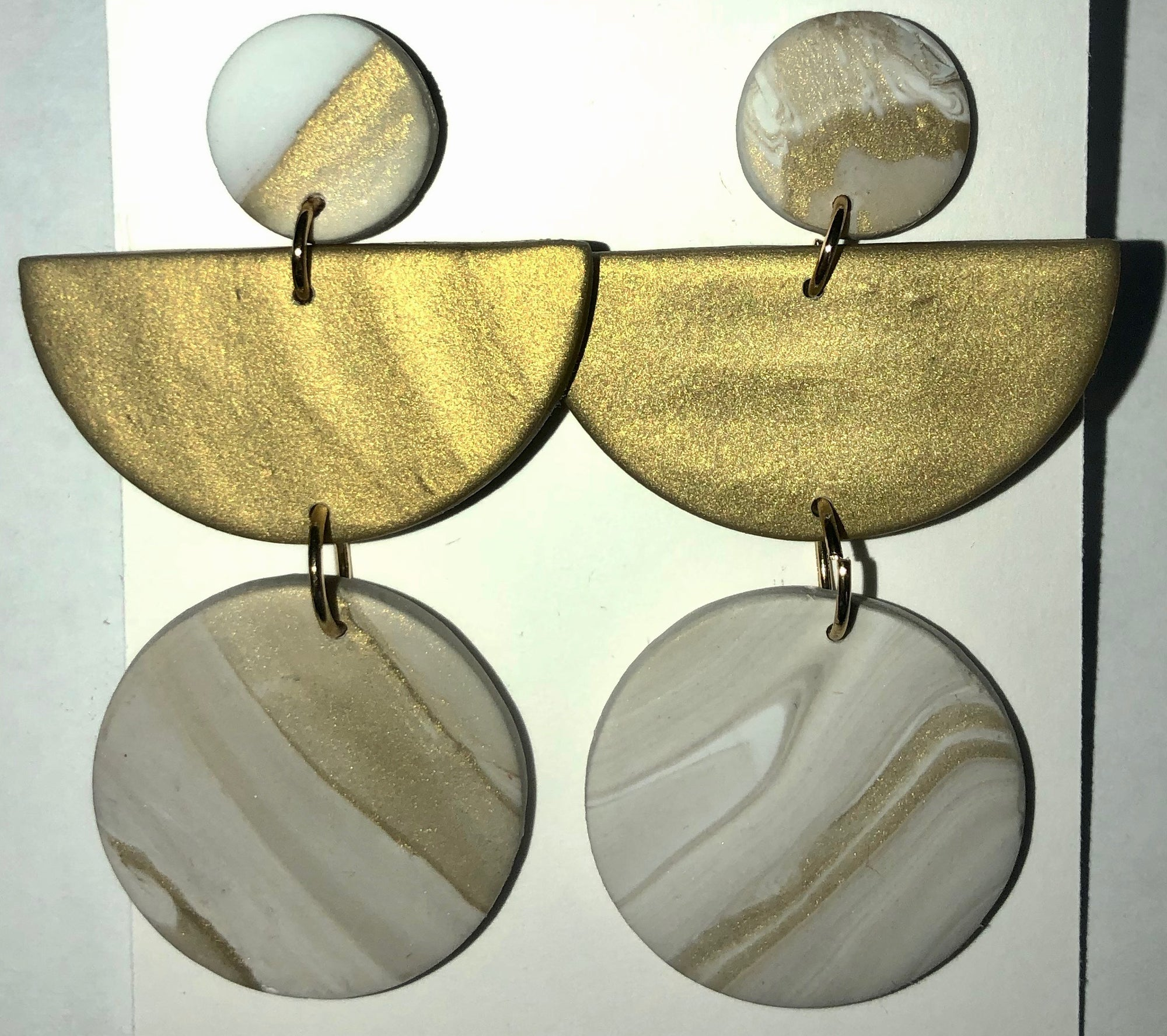 Clay Art Deco Earrings