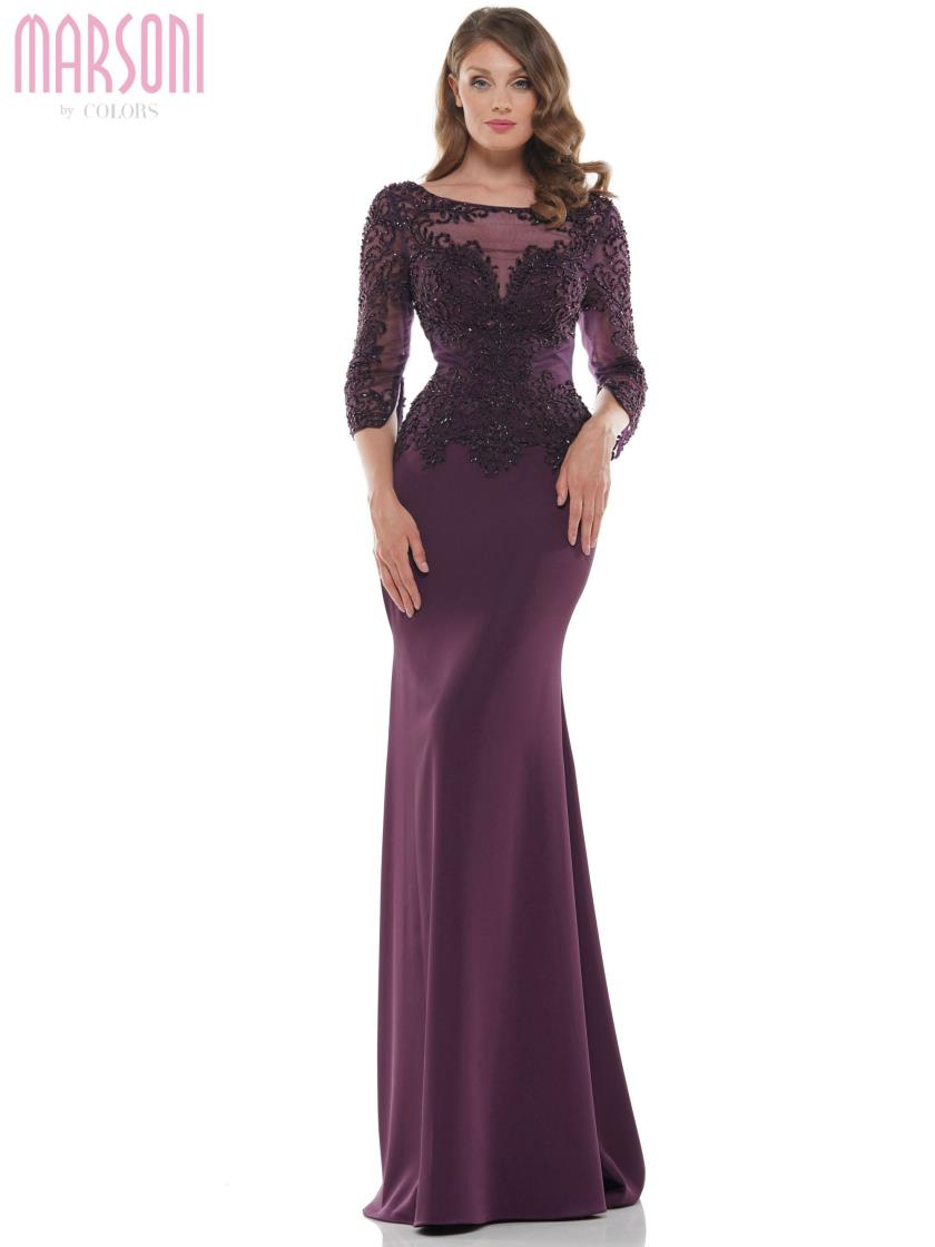 Fit & Flare 3/4 Sleeve Gown