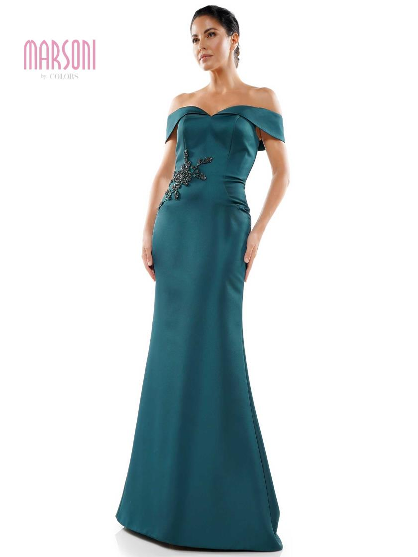 Fit & Flare Satin Gown