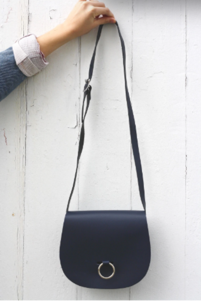 Leather Bull Ring Saddle Bag