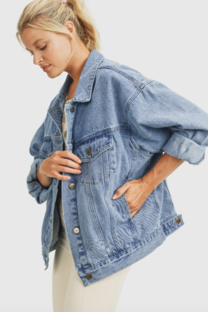 Boxy-Cut Denim Jacket