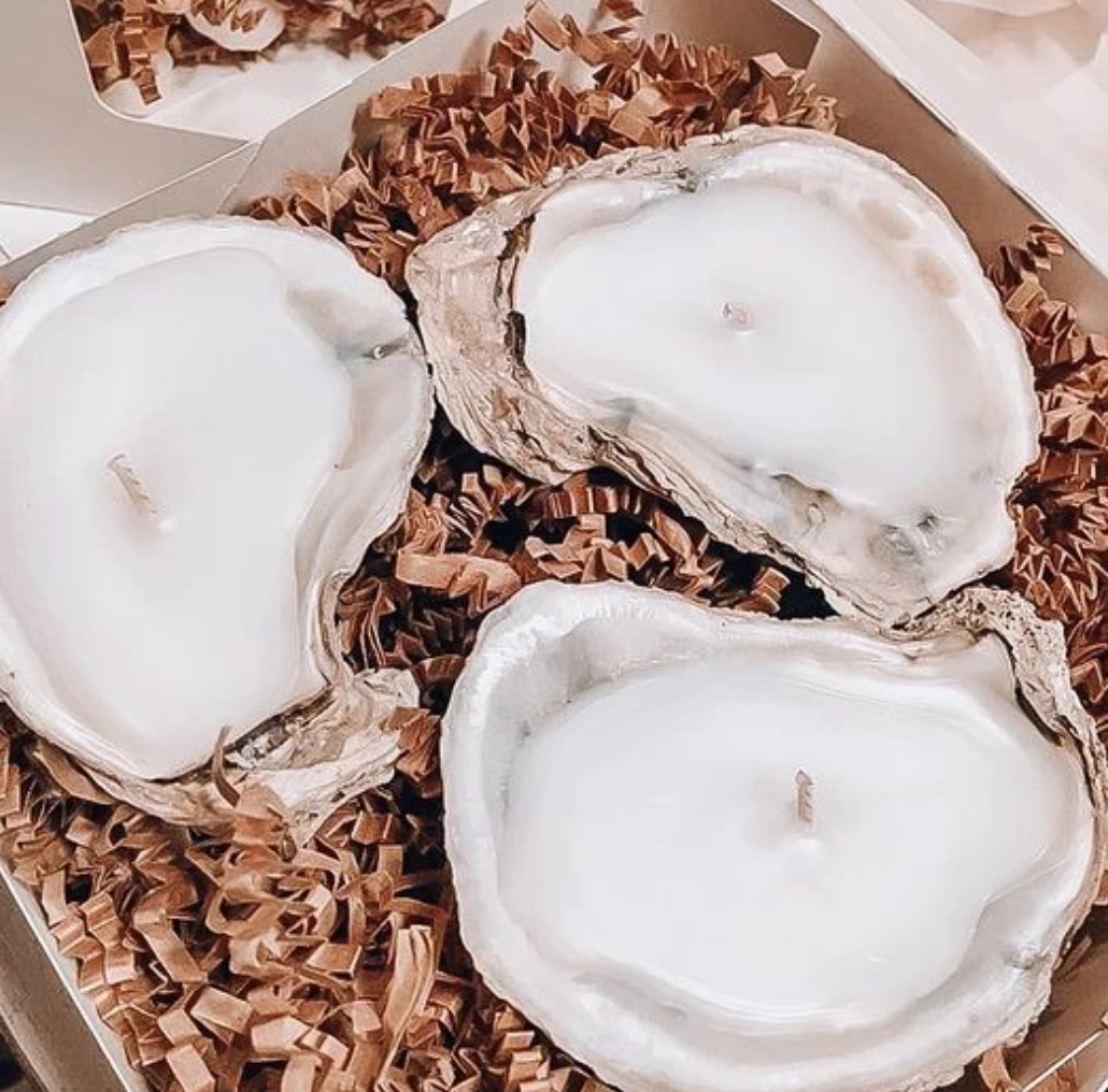 3 Piece Oyster Candle Set