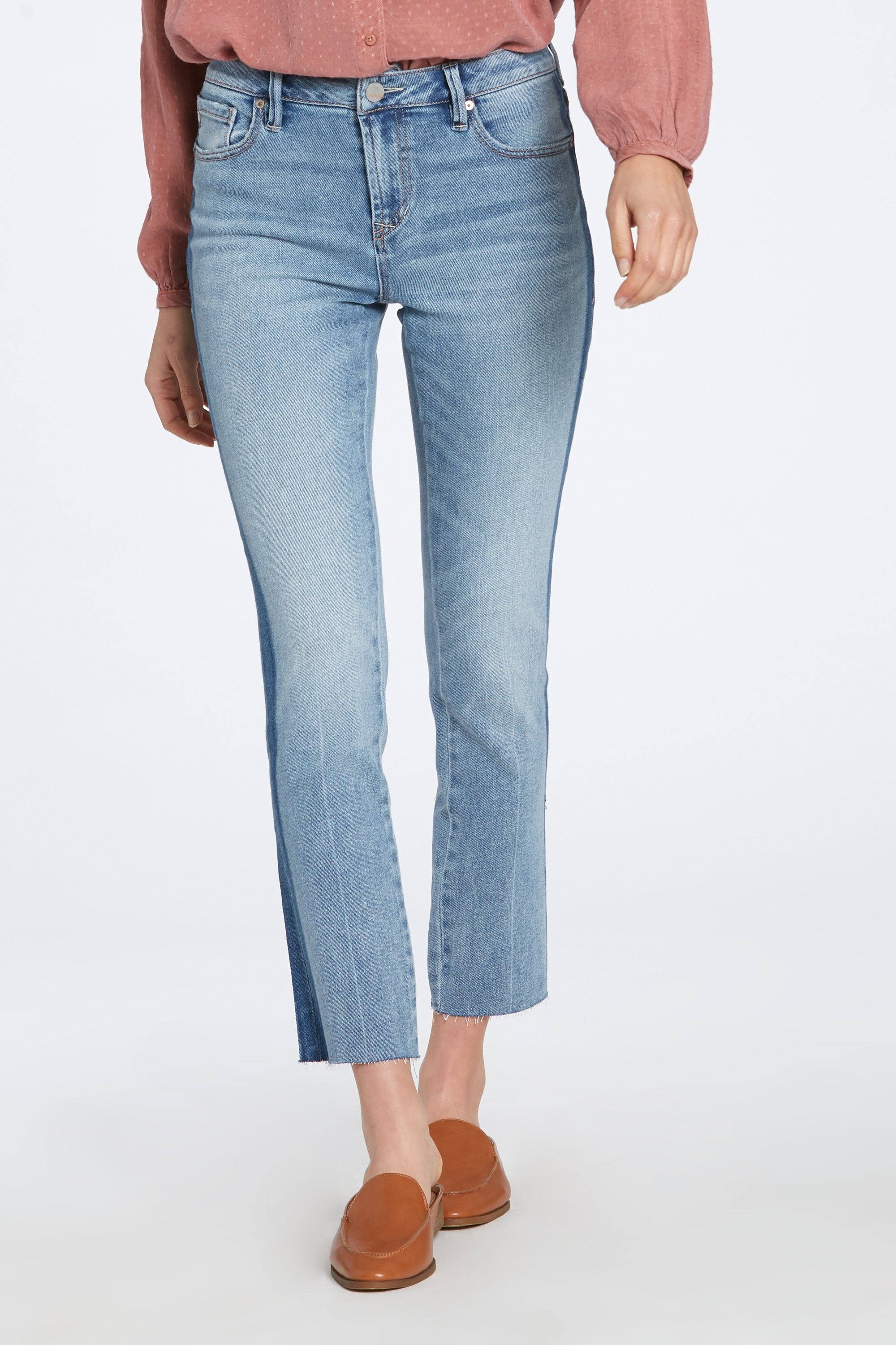 Cropped Kick Flare Denim
