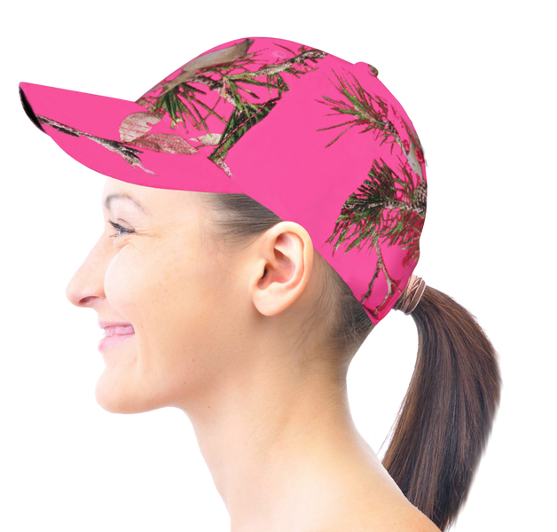 Womens Mossy Oak HOT PINK CAMO Country Roots Baseball Cap Hat