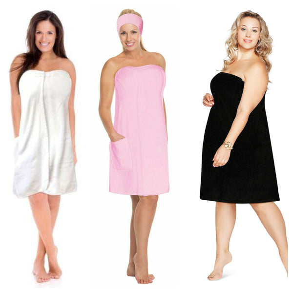Plus Size Womens Spa Bath Wraps 1X-6X