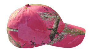 womens ladies muddy girl realtree real tree mossy oak hot blaze inferno pink camo cap hat visor scrunchie tee