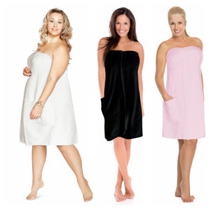 Plus Size Spa Wrap 1X-6X Womens Gym Robe Shower Towel Wrap Swim Cover Up Gown
