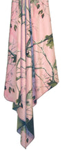 "Load image into Gallery viewer, Carstens Realtree Pink Camo Throw Blanket 50x60"" Faux Suede Camo with Faux Microfur Backing - Soft and Snuggly"