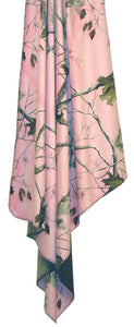 "Carstens Realtree Pink Camo Throw Blanket 50x60"" Faux Suede Camo with Faux Microfur Backing - Soft and Snuggly"