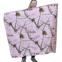 Load image into Gallery viewer, Carstens Realtree Pink Camo Throw Blanket 50x60 Faux Suede Camo Super Soft Backing