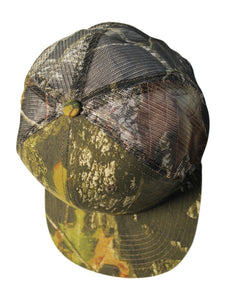 Mossy Oak Realtree Edge Break Up Blaze Orange Camo Truck Trucking Trucker Hat Cap Sweatband Mesh Snap Back Curved Flat Brim Camo Cap Hat Visor