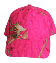 Load image into Gallery viewer, Mossy Oak Hot Pink Camo Cap Womens Hat Wicking Sweatband, Structured