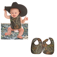 Load image into Gallery viewer, Mossy Oak Camo Baby Bibs 2PC Set MO Break Up Camouflage OSFM babies 3M-2T