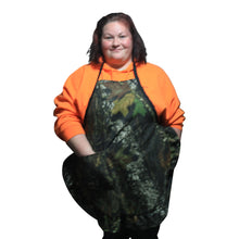 Load image into Gallery viewer, Camo Hostess Apron Mossy Oak Break Up Twill Ruffle Apron OSFM S-2X - Camo Chique & Spa Boutique