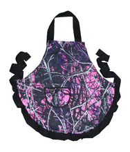 Load image into Gallery viewer, muddy girl pink camo apron cap hat visor moon shine apparel