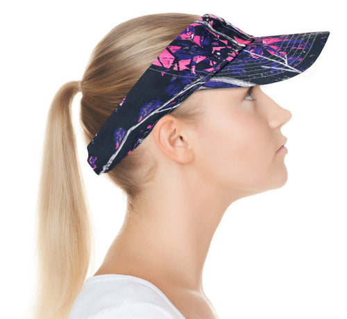 Muddy Girl Moonshine Apparel Pink Camo Cap Hat Visor Ponytail Wicking Sweatband