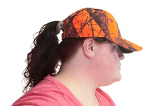 Load image into Gallery viewer, realtree mossy oak muddy girl pink blaze orange camo camouflage cap hat beanie visor scrunchie scarf cross jewelry necklace