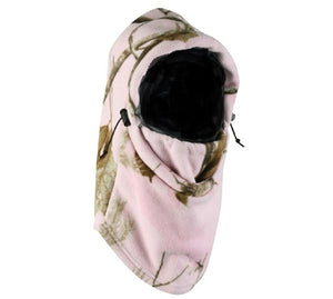 Realtree Pink Camo Fleece Facemask Balaclava Neck Gaiter Cold Weather Hunting Hat Cap