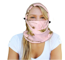 Load image into Gallery viewer, Pink Camo Fleece Balaclava Realtree Pink Facemask Cap Hat Neck Gaiter Scarf