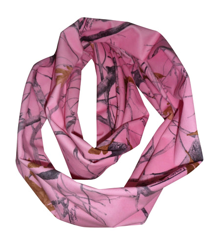 true timber pink camo infinity scarf