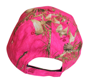 Mossy Oak Hot Pink Camo Cap Womens Hat Wicking Sweatband, Structured