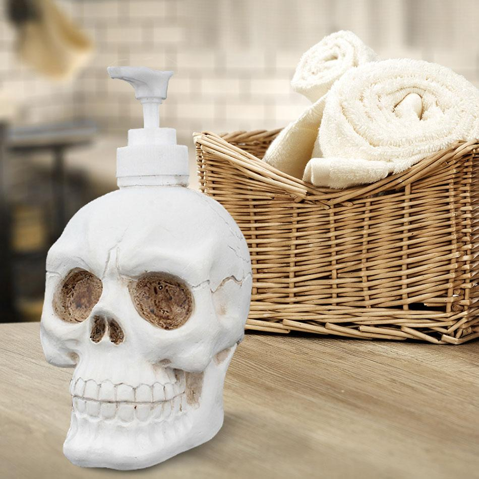 350ml New Retro Skull Shaped Liquid Dispenser Bottling rockiyo