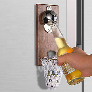 Creative Bottle Opener Wall Mounted With Magnetic rockiyo