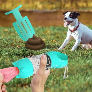 Outdoor/ Travel Portable Pets Dog Water Food Bottle With Poop Shovel rockiyo