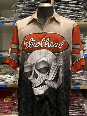 Petrolhead logo professional race team jerseys with snap front