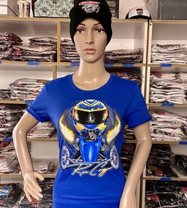 Ron Capps Fuel Altered Ladies Babydoll Tee Royal Blue