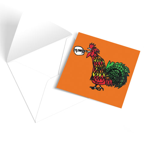 Cockerel Greetings Card