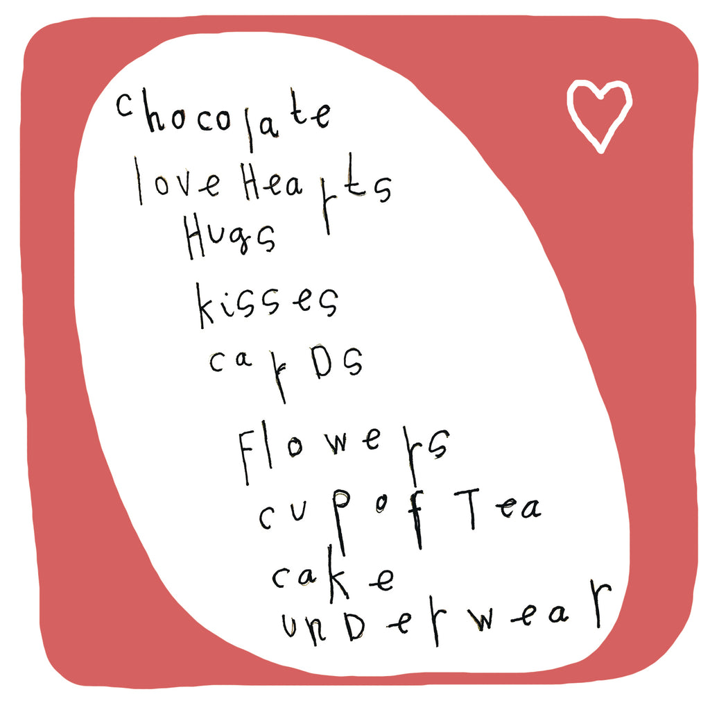 Valentine's List Valentine's Day Card