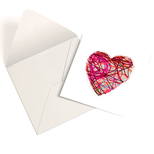 Abstract Love Heart Greetings Card