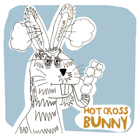 Hot Cross Bunny Card
