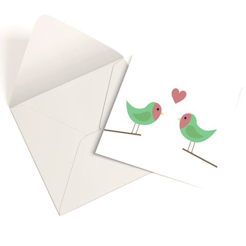 Love Birds Greetings Card