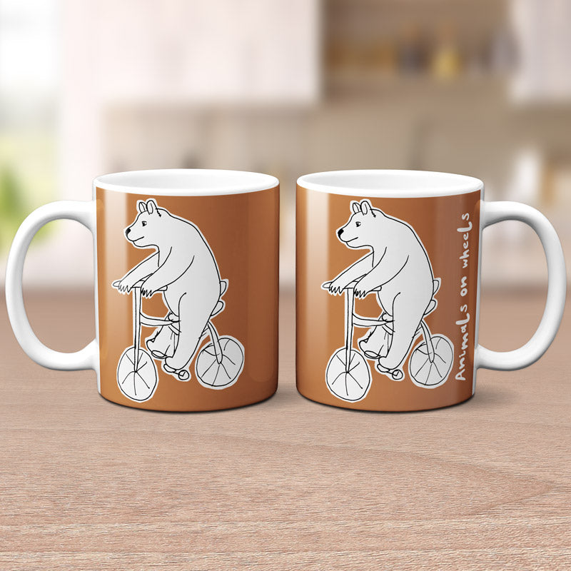 Bear On A Bike Mug