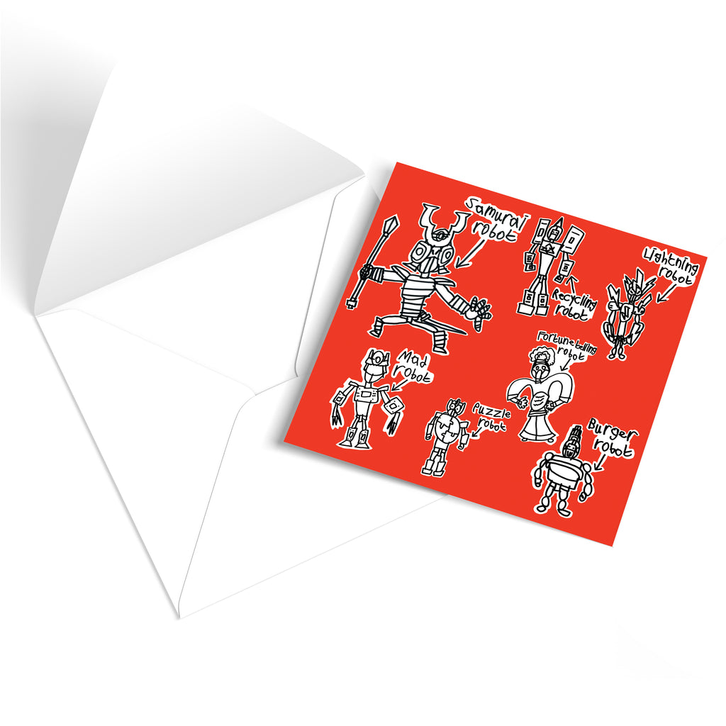 Robots Greetings Card