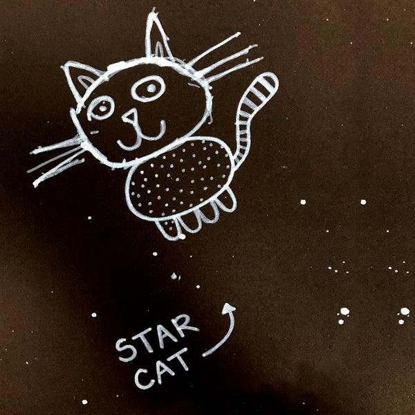 StarCat Greetings Card