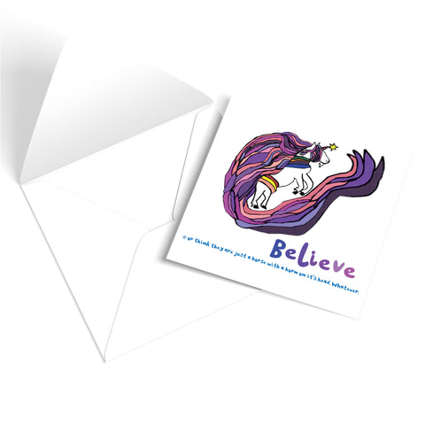 Believe in Unicorns Greetings Card