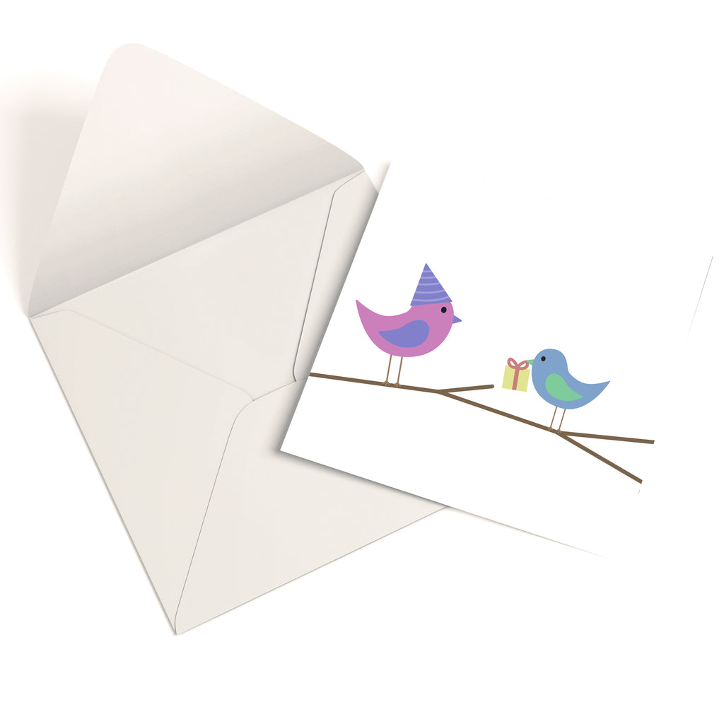 Birthday Birds Birthday Greetings Card